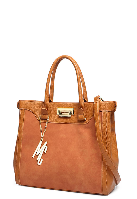 08915605c Bolsa Grande Macadâmia Estilo Tote Bag Tecido P.U Caramelo CARAMELO -  Macadamia R$ 129,90 à vista. Adicionar à sacola