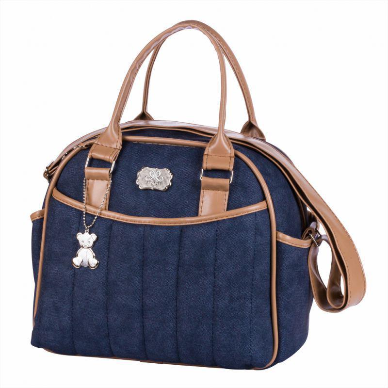 51e66f8c4 Bolsa maternidade Jeans 090 kit 02 peças mala + frasqueira - Momole R$  332,91 à vista. Adicionar à sacola