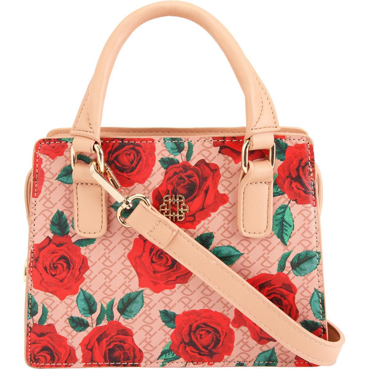 5b77832e7 Bolsa Mini Tote Feminina Rosas Ana Hickmann AHV188 Produto não disponível