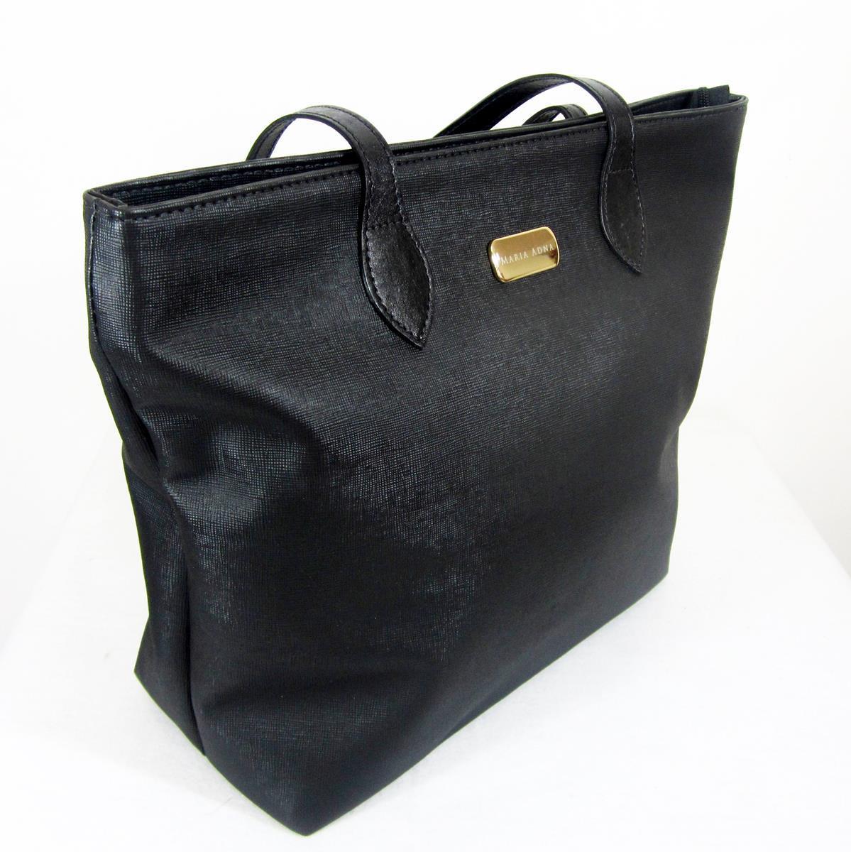 5be1c3454 Bolsa tiracolo/mão em material sintético com alças em couro maria adna R$  135,00 à vista. Adicionar à sacola