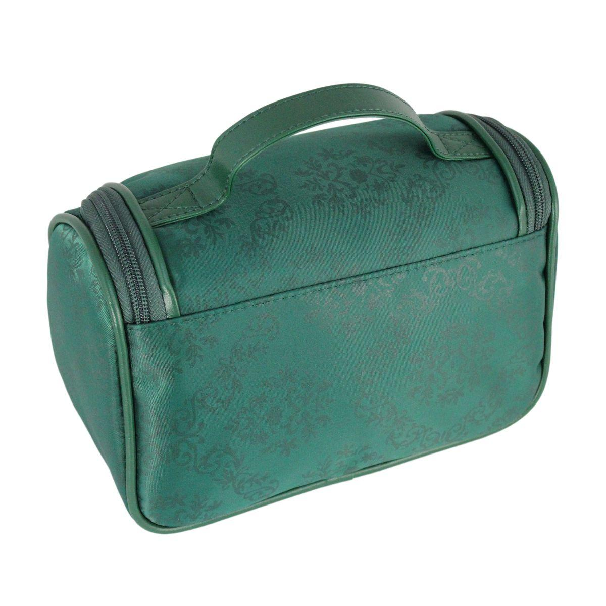 6e86fa949 Bolsinha necessaire com gancho viagem academia estampa damasco jacki design  verde R$ 46,85 à vista. Adicionar à sacola