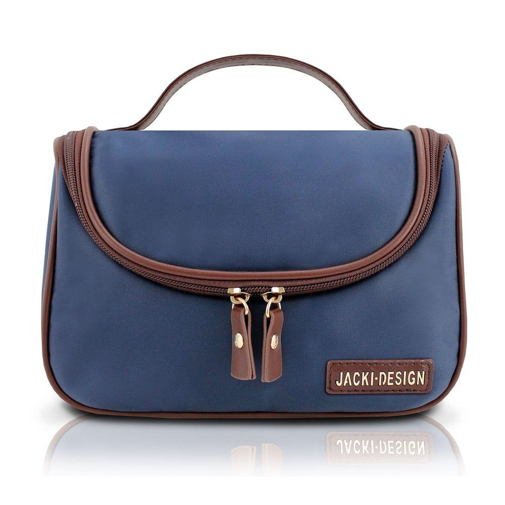 Bolsinha necessaire prática com gancho para pendurar viagem academia jacki  design azul escuro R  55 87b110adf77e7