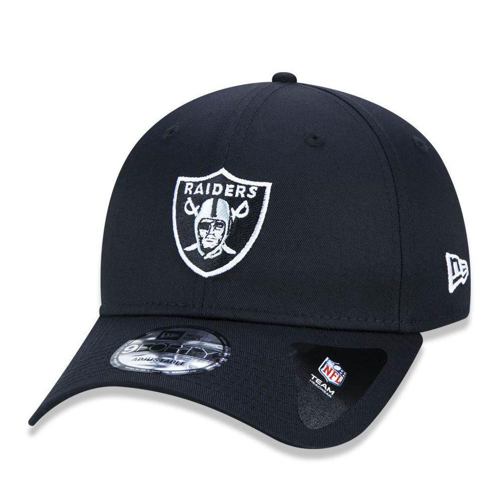 12536271b7e3e Boné Aba Curva Preto 940 Oakland Raiders NFL - New Era - Acessórios ...