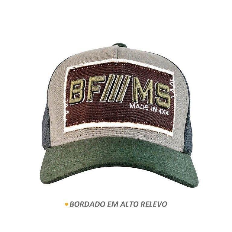 Boné BFMS Original Verde Musgo com Aplique Marrom - Bf     ms - Boné ... 9c4e548e407