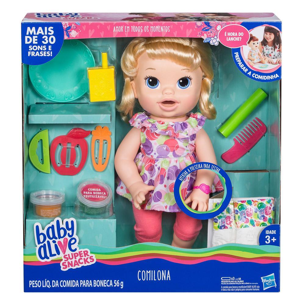 fc9056eafd Boneca Baby Alive - Comilona - Loira - E3403 - Hasbro - Boneca Baby ...