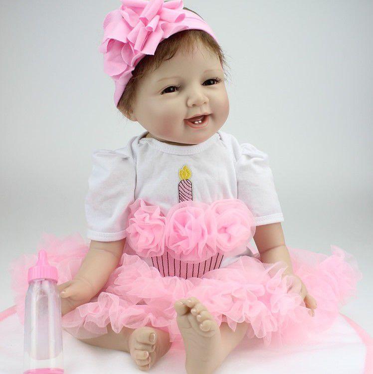cb5d06e416 Boneca Bebe Reborn LBC 02A Menina Silicone Realista - Boneca Reborn ...