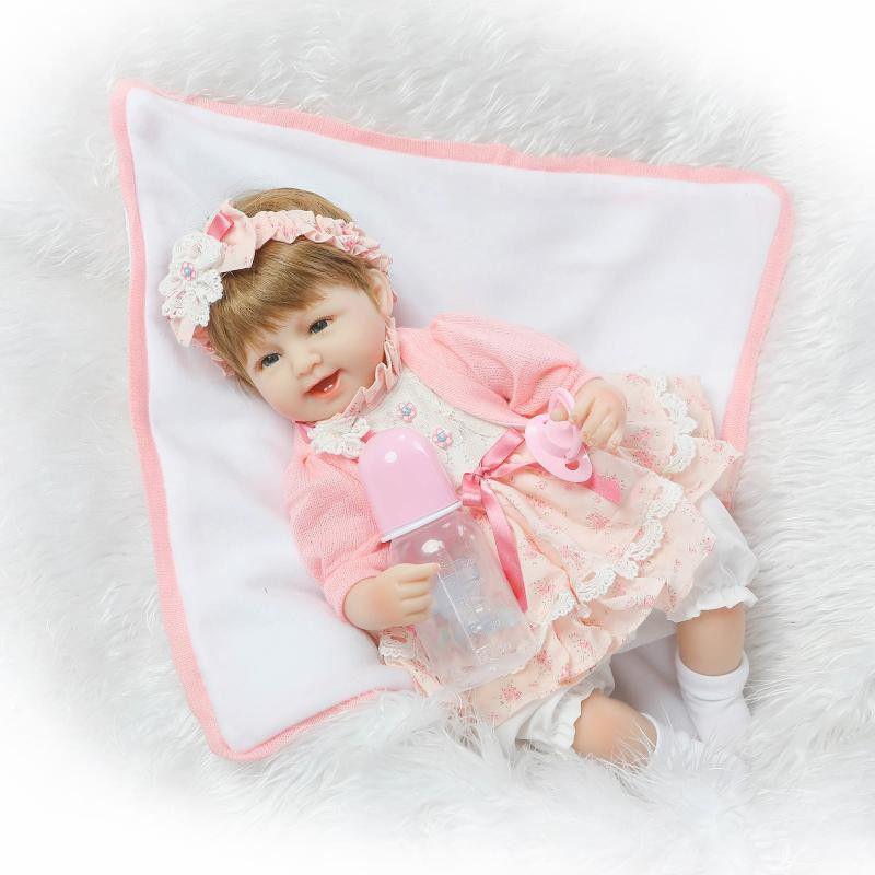150e8087f1 Boneca Bebe Reborn LBC 04A Menina Silicone Realista - Boneca Reborn ...