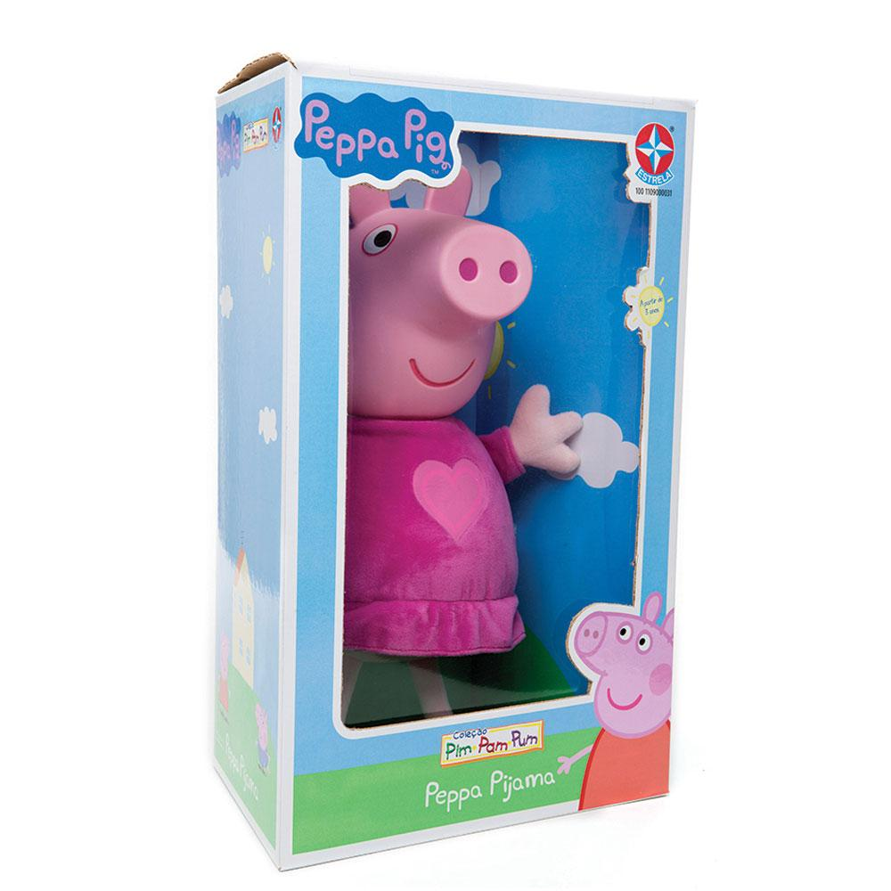 Boneca Peppa Pig - Peppa com Cabeça de Vinil - Estrela - Produto não  disponível