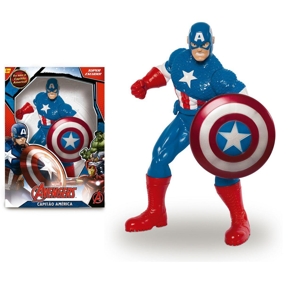 816f4b2726bc7 Boneco Capitão América - Avengers Comics - Mimo - Bonecos - Magazine ...