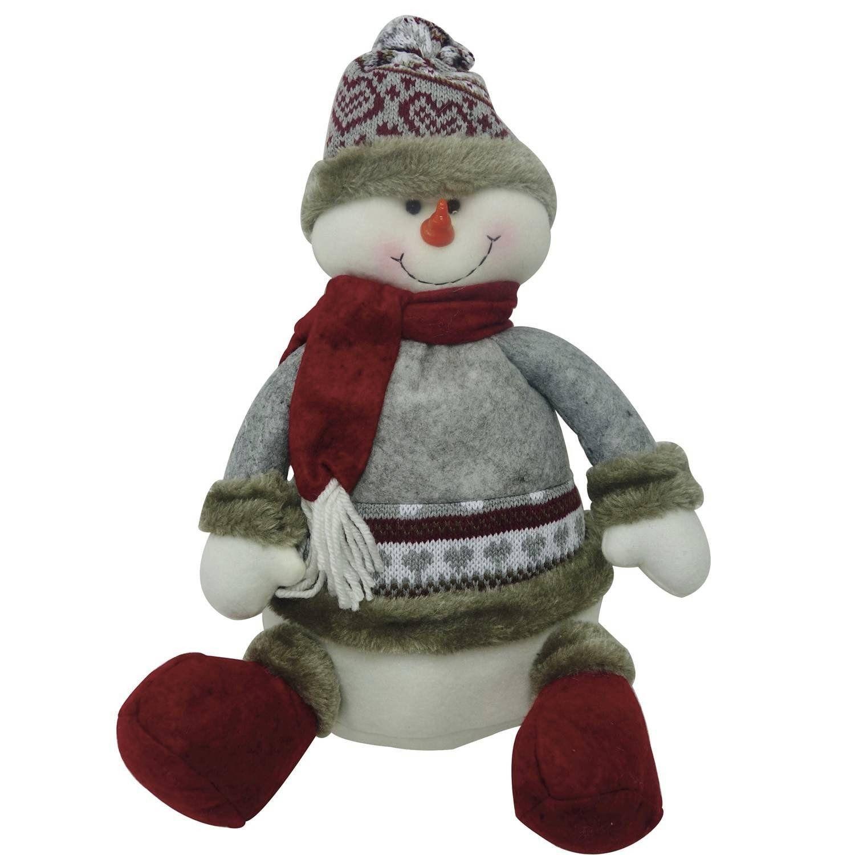 Boneco de Neve Sorriso com Gorro 30cm Toronto Niazitex Cinza R  57 610041c5da7