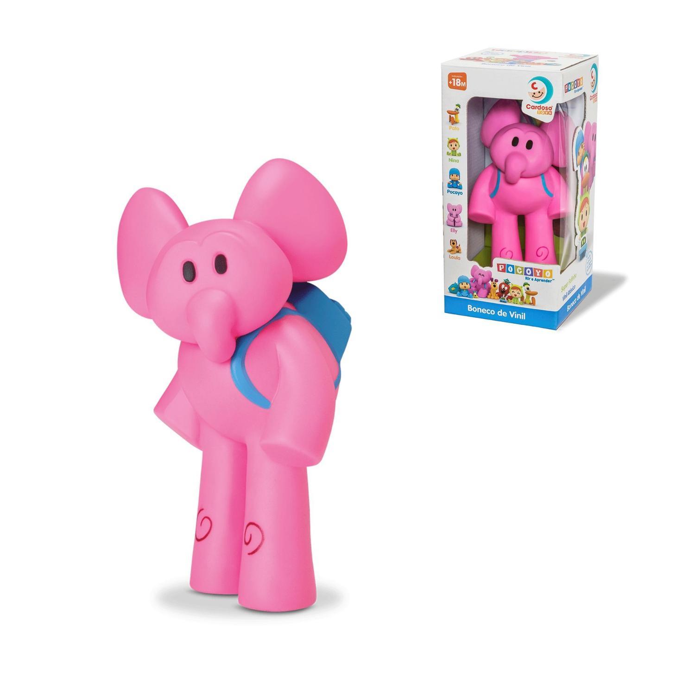 Boneco Elly De Vinil Elefante Da Turma Do Pocoyo Cardoso