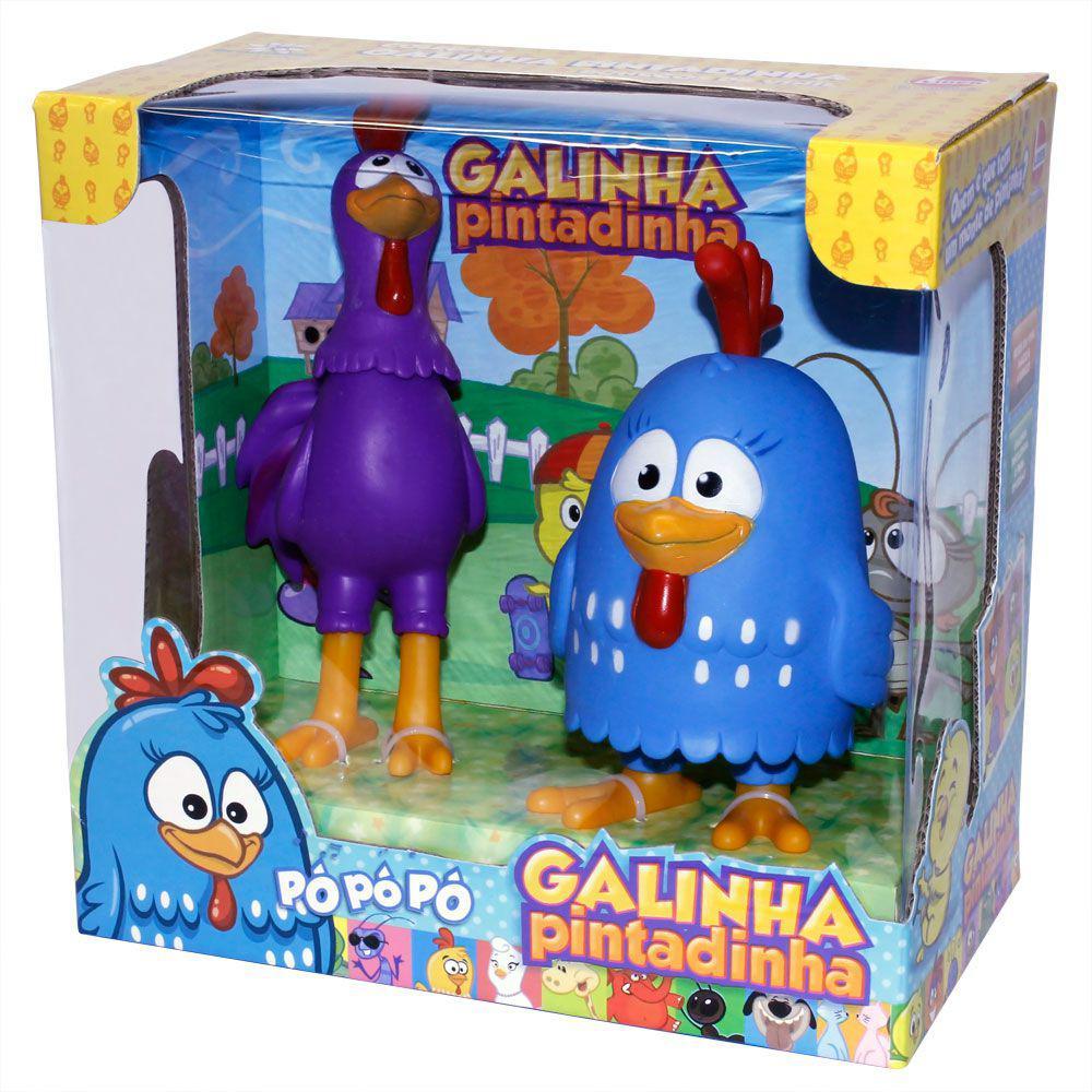 4efd502bf9 Bonecos de Vinil - Galinha Pintadinha - Galinha e Galo Carijó - Lider R   72