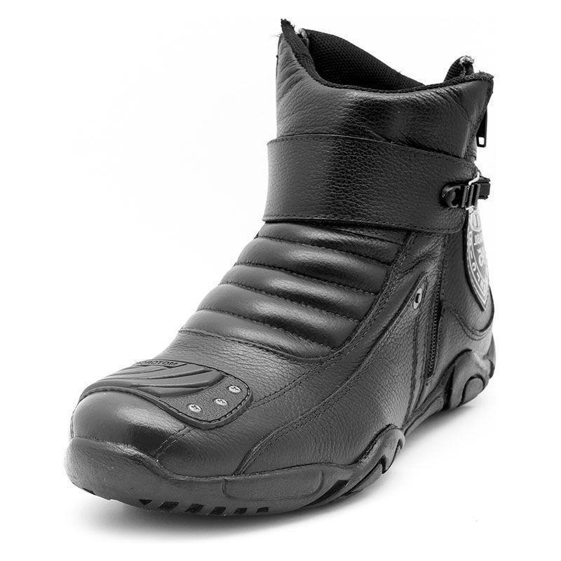 c12593d3c34 Bota Motociclista Cano Curto Preta Logo Honda 271 - Atron shoes R  179