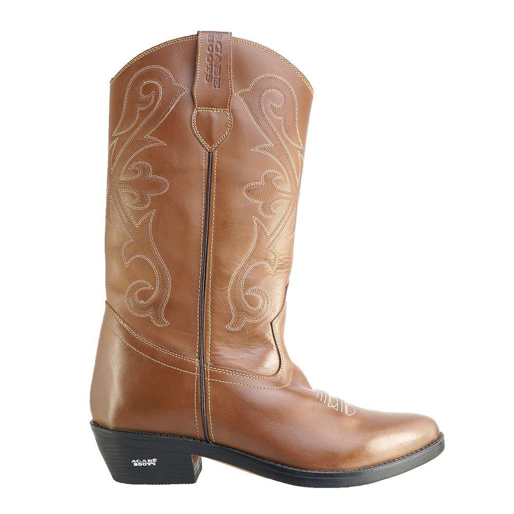 06cd678737 Bota Texana Hb Agabe Boots 200.002 - Lt Marrom - Solado de Couro com  Borracha - Hb - agabê boots R  617