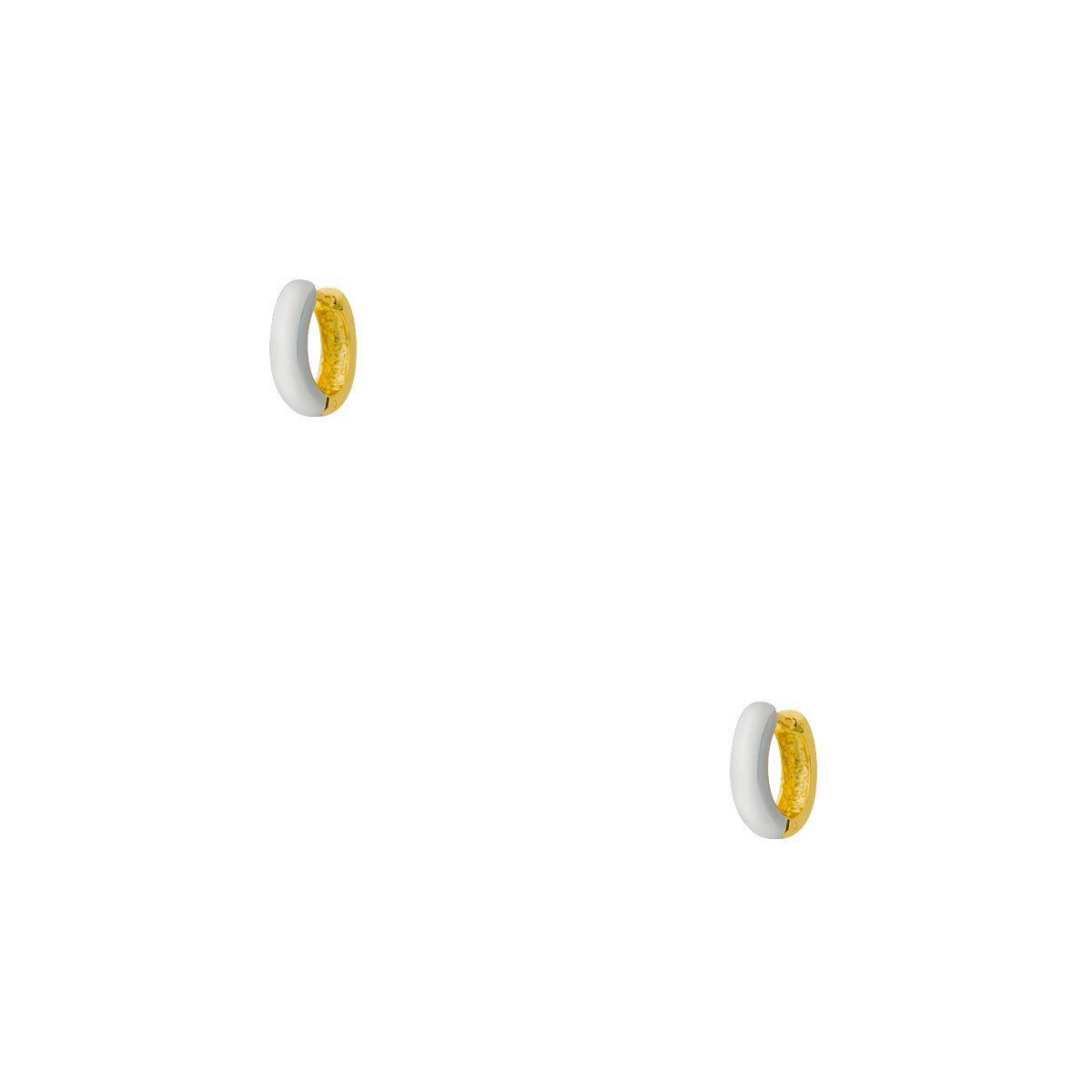 d2aac42310f42 Brinco de Ouro Branco e Amarelo 18k Argola Bicolor br05907 - Joiasgold R   1.129,59 à vista. Adicionar à sacola