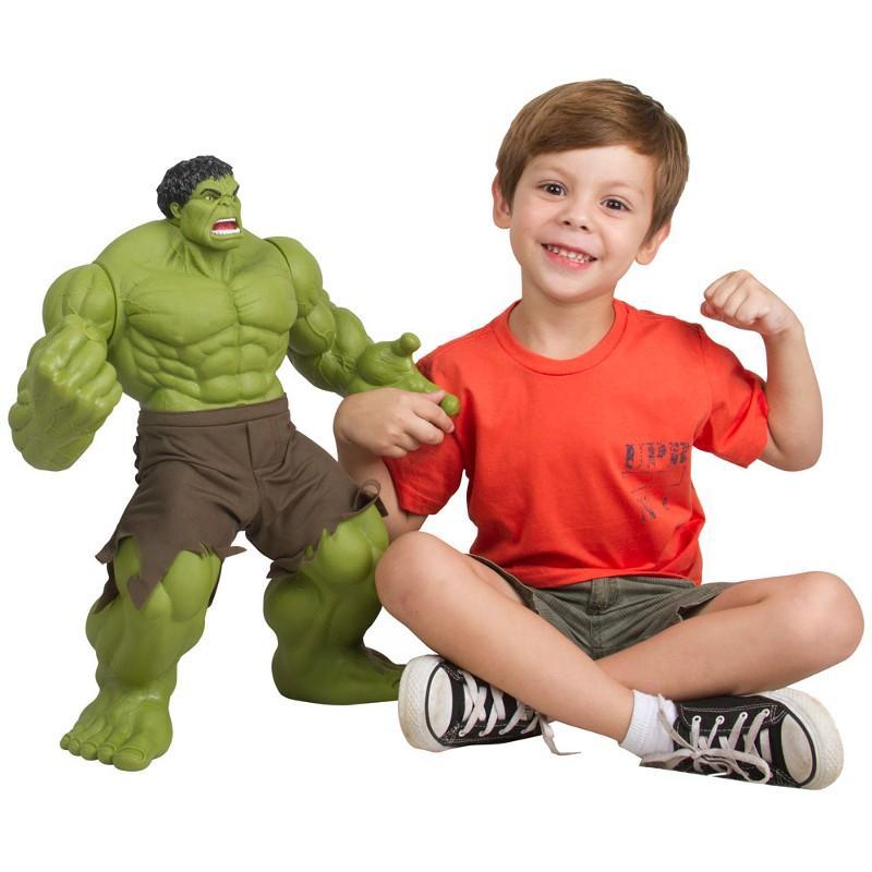 Brinquedo Boneco Marvel Hulk Verde Premium Gigante 55 cm - Mimo R  289 c7b1fe25838