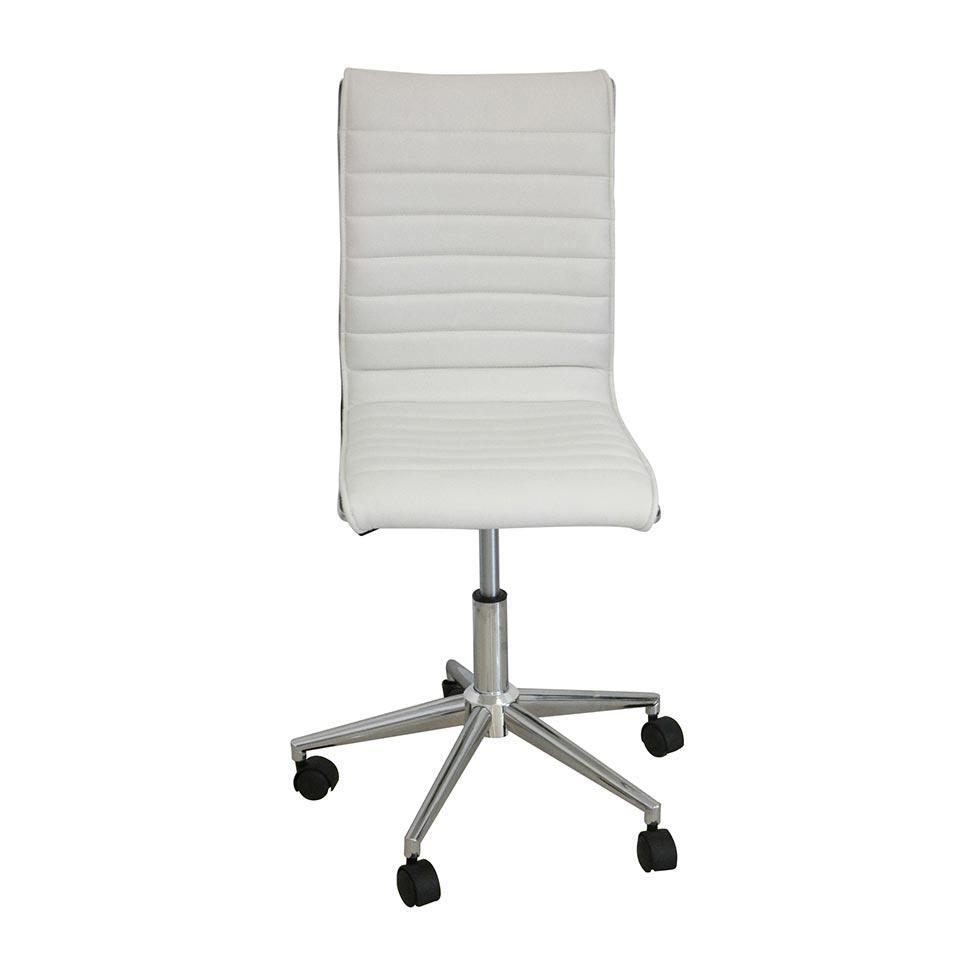 1ae34b6a9 Cadeira de Escritório Secretária Giratória Marilyn Plus Branca - Mobly R   319