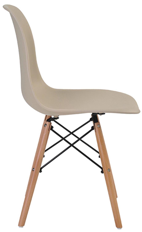 Cadeira Polipropileno Retrô Eiffel Rivatti Preto