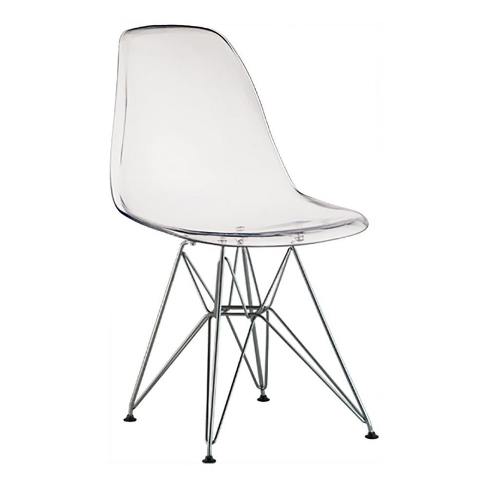 Compre Cadeira Sem Braço Pp Base de Madeira Eiffel