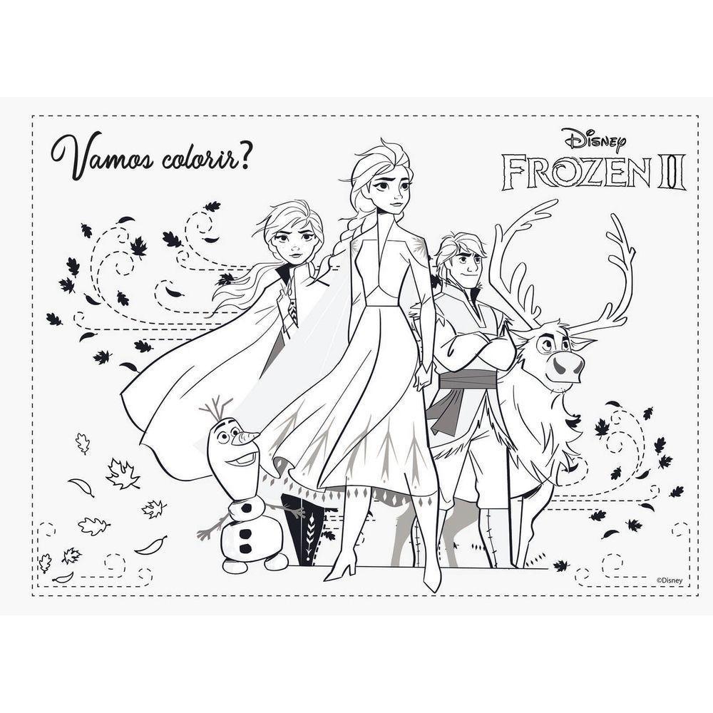 Caderno De Cartografia E Desenho Frozen 2 Elsa E Anna Jandaia