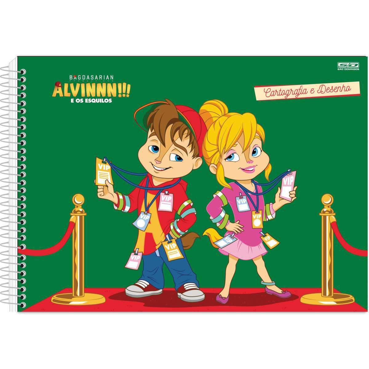 Caderno Desenho Univ C Dura Alvin E Os Esquilos 60 Fls C 05 Sao
