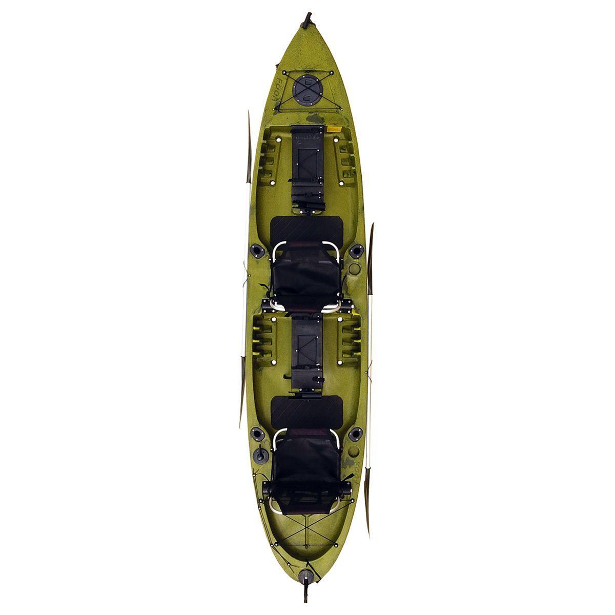 ba088d4c3 Caiaque De Pesca New Foca Fishing 2 Lugares Verde Camuflado Caiaker Produto  não disponível