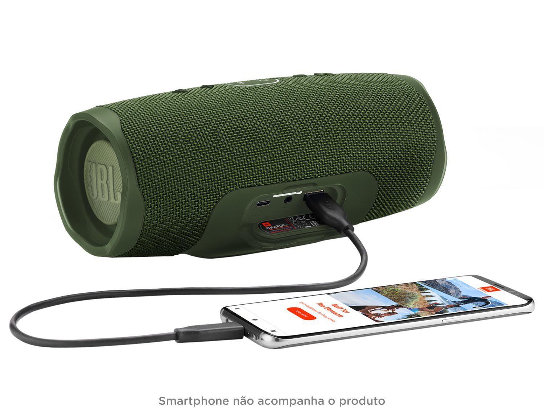 Resultado de imagem para Caixa de Som Bluetooth JBL Charge 4 30W verde