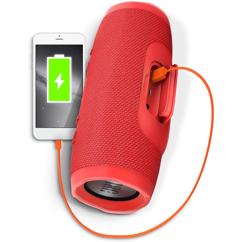 Caixa de som portátil Bluetooth JBL Charge 3 à prova dagua Bateria