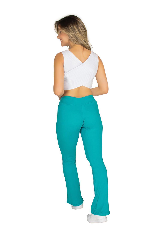 14bb203294 Calça Legging Feminina Flare Boca de Sino - (Verde) - Rb moda R  36