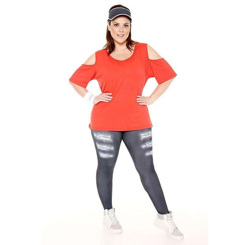 542ed3cb7 Calça legging jeans plus size trinys R$ 109,90 à vista. Adicionar à sacola