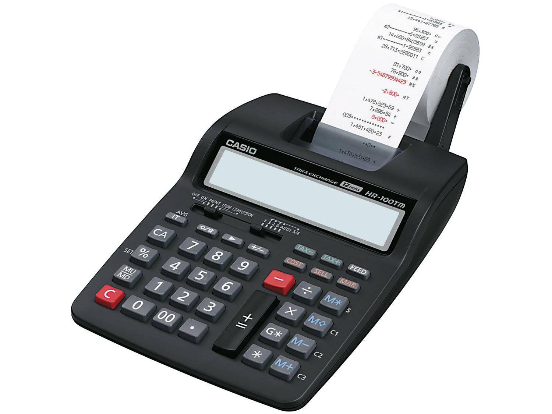 Calculadora casio com bobina 12 d gitos hr 100tm preta for Calculadora de redes