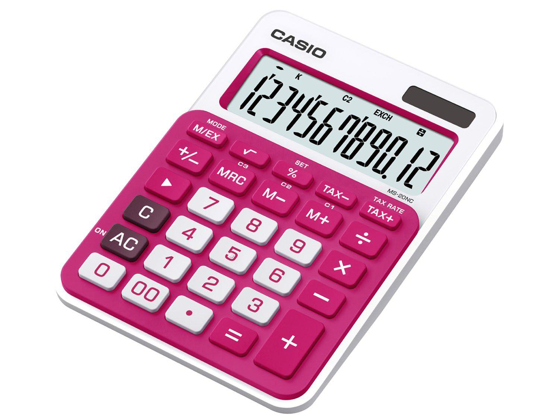 Calculadora de mesa casio 12 d gitos colorful ms 20nc for Calculadora de redes