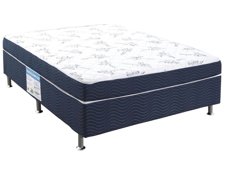 Cama box casal ortobom conjugado 43cm de altura physical for Cama cama cama cama cama