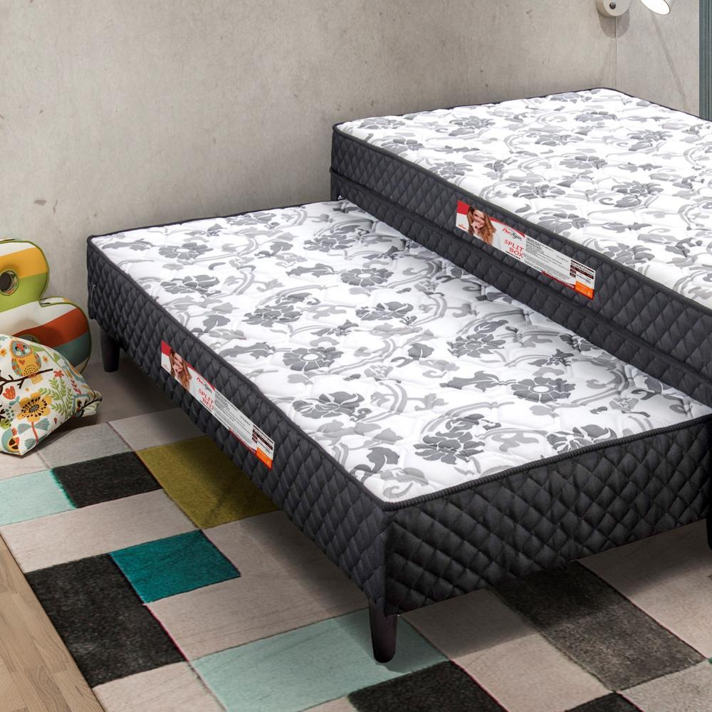 32a589311 Cama Box Conjugado Solteiro 88 cm Split Box Com Cama Auxiliar 78 cm Split  Bed - Simbal R  817
