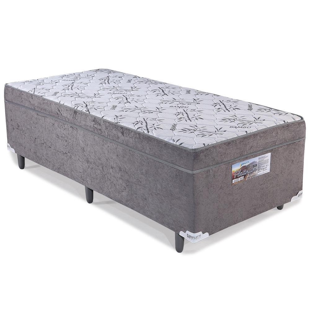 81a31d931 Cama Box Conjugado Solteiro Espuma D28 Platinum At Home Cinza - Rifletti  colchões R  499