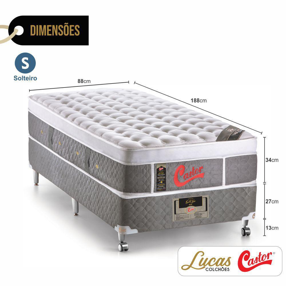 ad81f6942 Cama Box Solteiro + Colchão De Molas Ensacadas - Castor - Light Stress  Oxygen New One Face 88cm R$ 2.669,58 à vista. Adicionar à sacola
