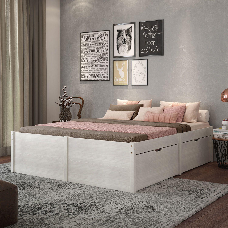 Cama casal com 4 gavetas madeira maci a beauty inter link for Cama 150 x 200