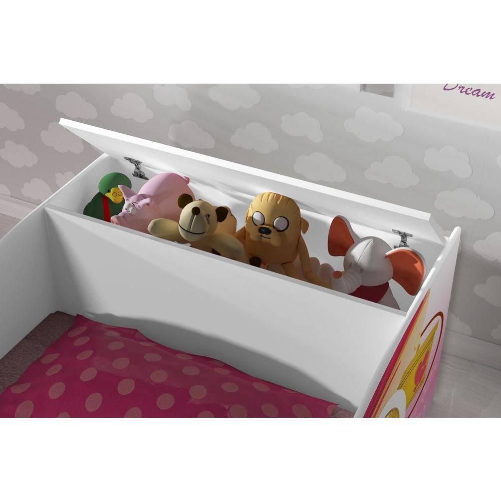 00c7676ea0 Cama de Solteiro Carruagem com Bau Rosa - JA Móveis - J a móveis R  524