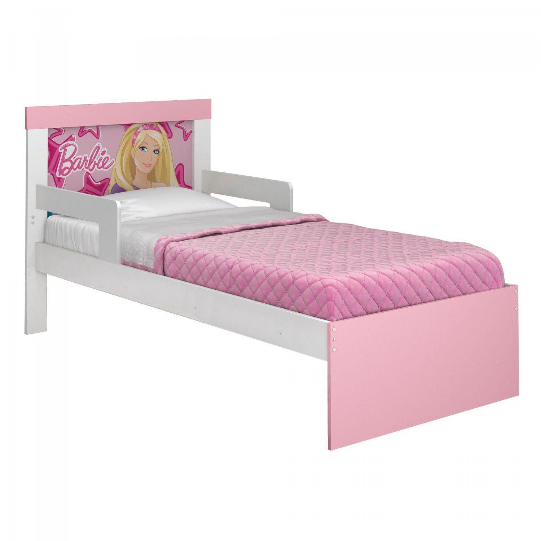 bcce494f90 Cama Infantil Barbie Happy Pura Magia Branco Rosa Pink Produto não  disponível