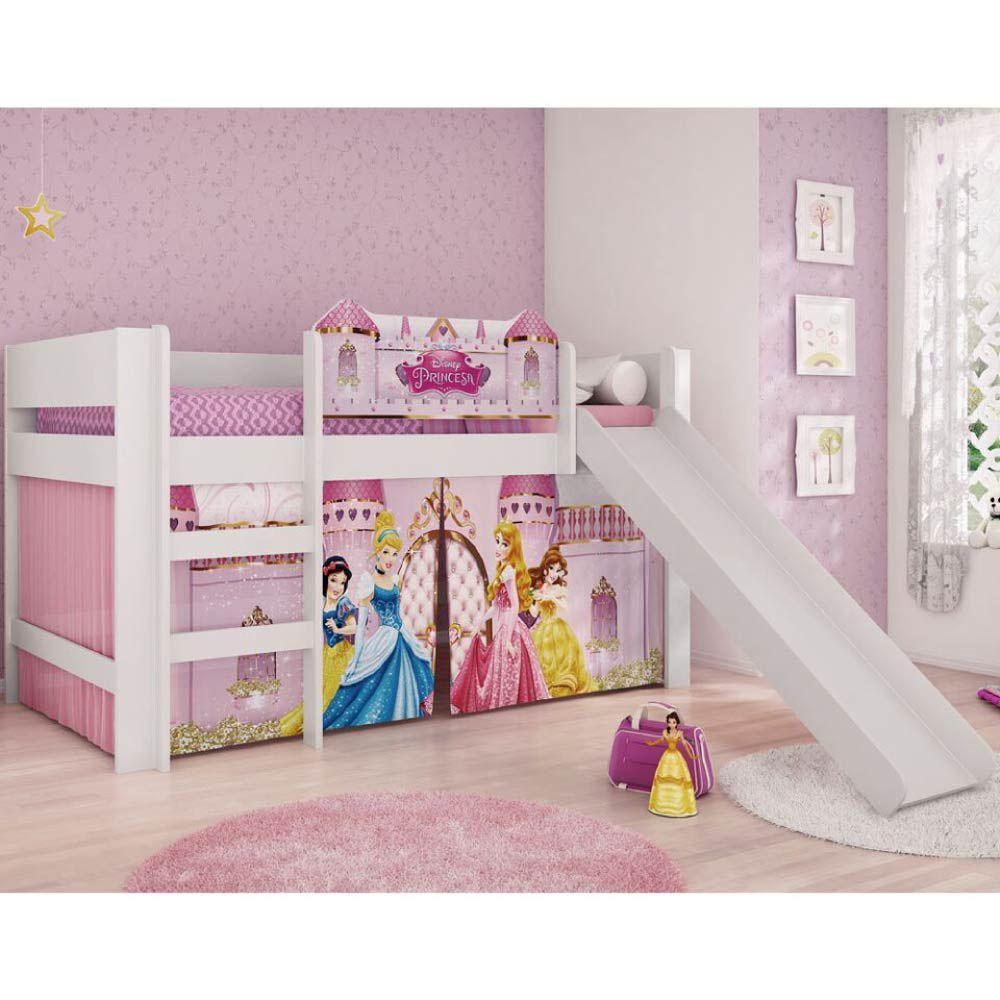 Cama infantil com escorregador princesas disney play - Camas infantiles de princesas ...