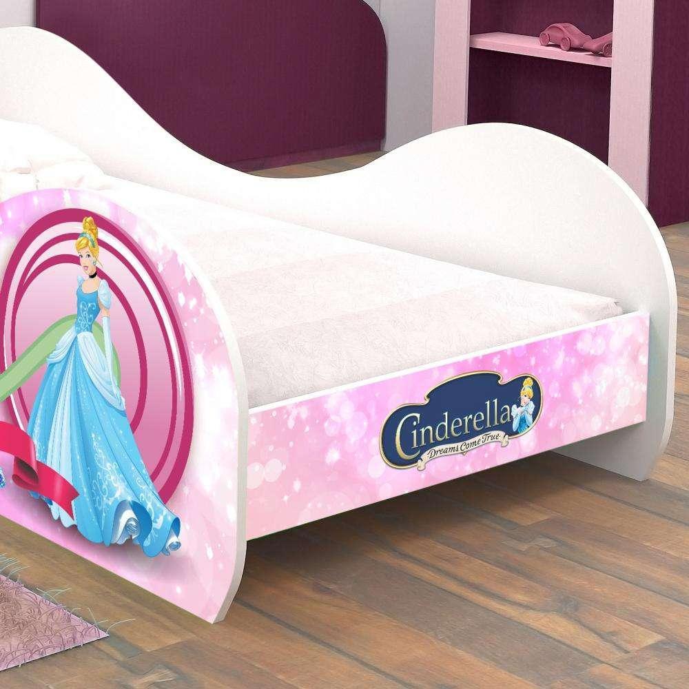 46c9d744a7 Cama infantil  mini cama infantil carruagem cinderela rosa c  colchão - Rpm  moveis R  369