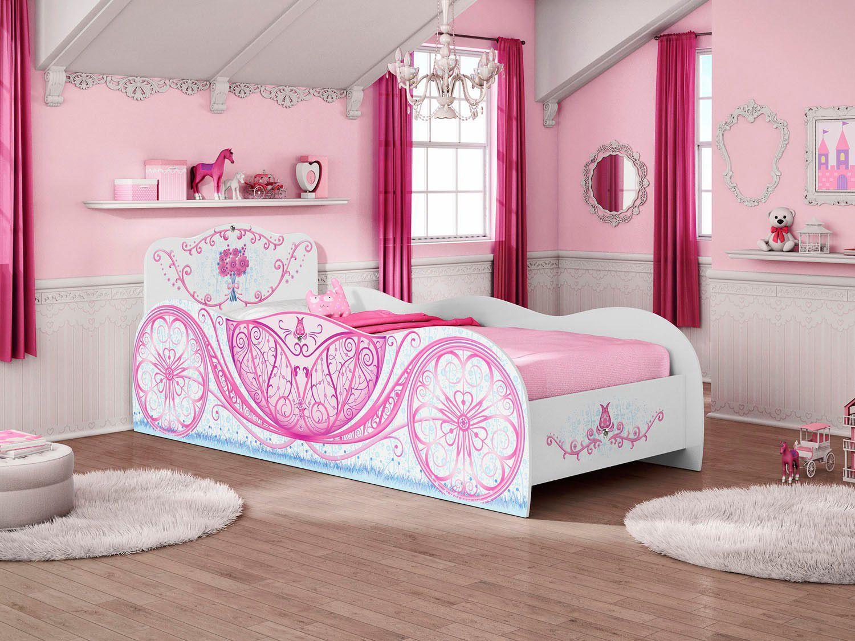 Cama infantil m veis estrela carruagem cama infantil magazine luiza - Dosel para cama infantil ...