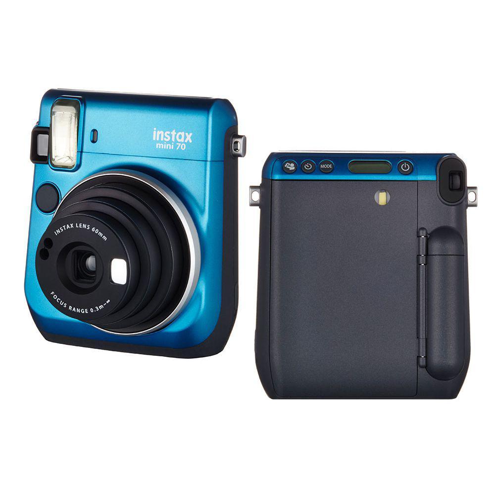 7cb340dee3f2e Câmera Instantânea FujiFilm Instax Mini 70 Azul + Álbum para 64 Fotos R   1.049,90 à vista. Adicionar à sacola