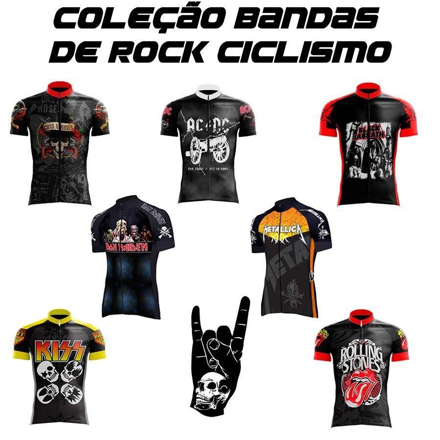 0d5c83782fa8e Camisa ciclismo metallica preta rock - Banda rock R$ 149,90 à vista.  Adicionar à sacola