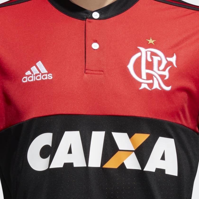 767c7b38e2 Camisa do Flamengo Rubro Negra 2017-2018 - Com Patrocínio - Adidas R$  179,90 à vista. Adicionar à sacola