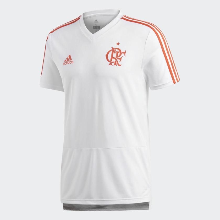 3c0316376e Camisa Flamengo Adidas Treino 2018 Branca R$ 144,99 à vista. Adicionar à  sacola