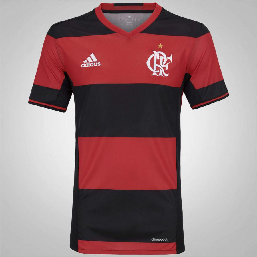 Camisa Flamengo Rubro Negra Adidas 2016 Jogador - Camisa de Time ... f8feed0ba99c0