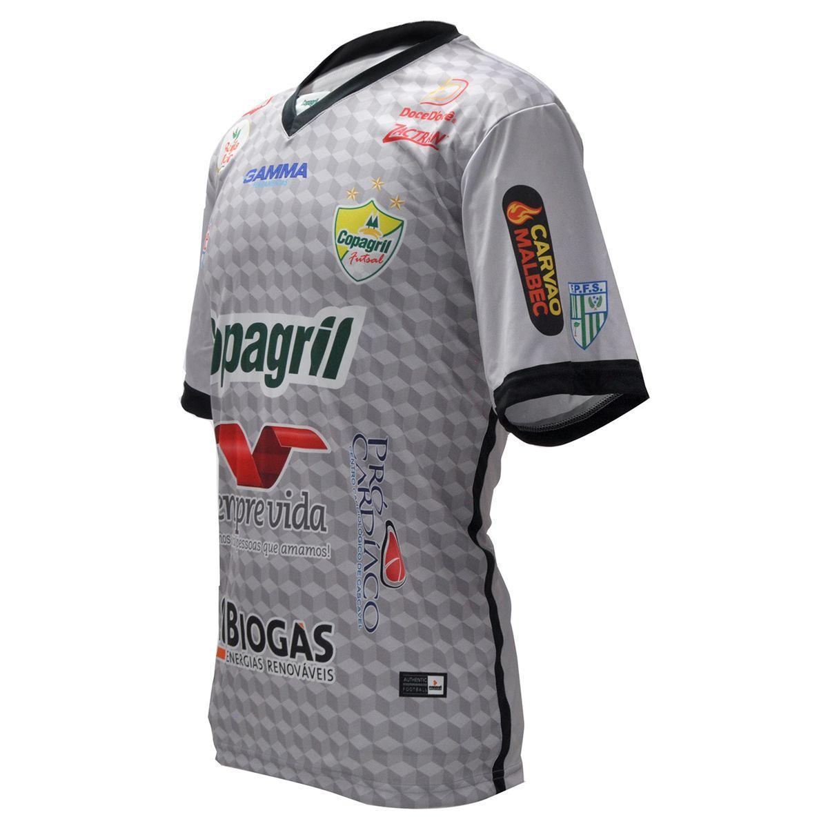 Camisa Oficial Copagril Futsal 2018 Goleiro Cinza - Camisa de Time ... 7563e4f18bea2
