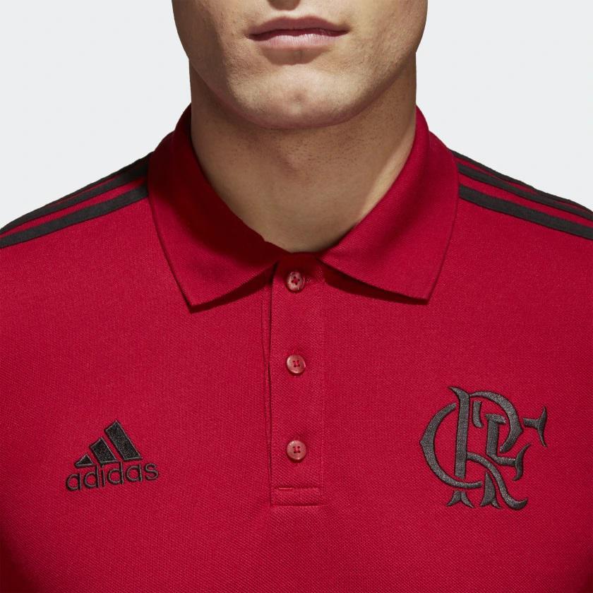 393ec21d4f Camisa Polo Flamengo Adidas 3 Stripes Masculina - Vermelho e Preto R$ 168,90  à vista. Adicionar à sacola