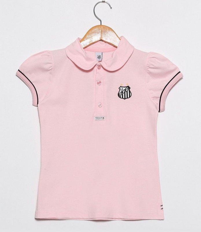 c4017033a42a2 Camisa Polo Infantil Santos Rosa Oficial - Revedor R  69